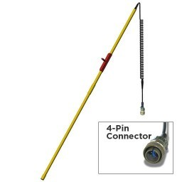 ELECTRODE POLE 6FT 2PC 4-PIN AMP PLUG